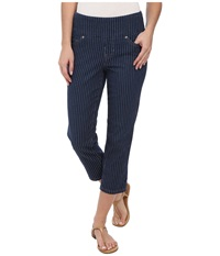 Jag Jeans Sara Pedal Pusher Slim Fit In Rinse Rinse Women's Capri Navy