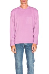 Our Legacy Jersey Long Sleeve Tee In Purple