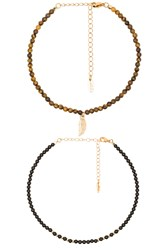 Ettika Choker Set Metallic Gold