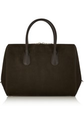Nina Ricci Youkali Small Nubuck And Leather Tote Army Green