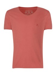Label Lab Band Pigment Jersey T Shirt Retro Pink
