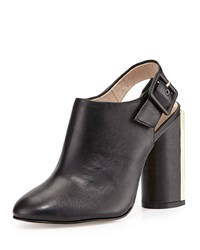 French Connection Izzy Sheep Leather Slingback Bootie Black