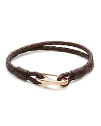 Babette Wasserman Demon Lobster Clasp Bracelet Brown