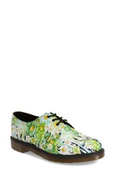 Women's Dr. Martens '1461' Oxford Green Paint Slick Leather