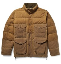 Filson Cruiser Quilted Water Repellent Cotton Canvas Down Jacket Brown