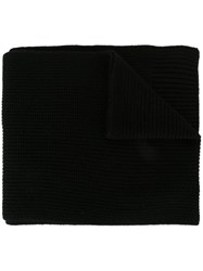 Dolce And Gabbana Ribbed Scarf Black