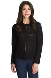 Women's 1.State Loose Knit Crewneck Sweater Rich Black