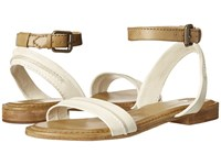 Frye Phillip Seam Ankle Off White Multi Soft Vintage Leather Women's Sandals