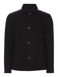 Label Lab Floyd Casual Double Breasted Overcoat Black