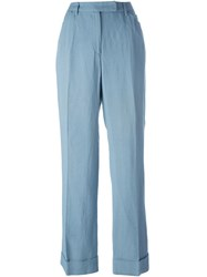 Dolce And Gabbana Vintage High Waisted Trousers Blue