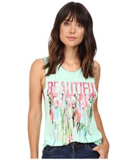Life Is Beautiful Drip Muscle Tank Mint Women's Sleeveless Green