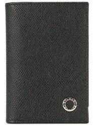 Bulgari Embossed Logo Wallet Black