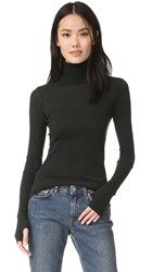 Enza Costa Turtleneck Top Deep Forest