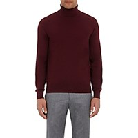 Luciano Barbera Men's Wool Turtleneck Sweater Red