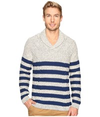 Nautica 3 Gauge Shawl Pullover Marshmallow Men's Sweater Blue