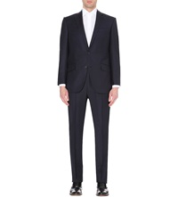 Richard James Wool Twill Suit Navy