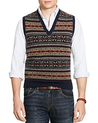 Polo Ralph Lauren Fair Isle Sweater Vest Blue Fairisle