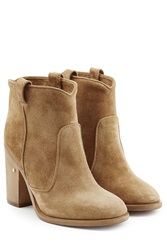 Laurence Dacade Suede Ankle Boots Beige