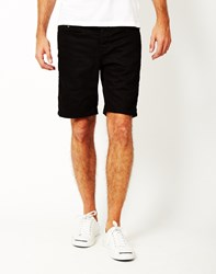 Only And Sons Avi Loom Denim Shorts Black