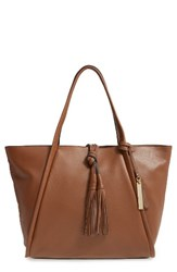 Vince Camuto Taro Leather Tote Brown Golden Brown