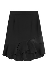 Emilio Pucci Flared Viscose Blend Skirt Black