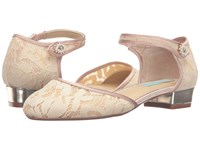 Blue By Betsey Johnson Lila Champagne Fabric Women's Flat Shoes Pink