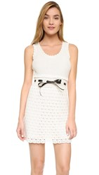 Red Valentino Crochet Tank Dress Ivory
