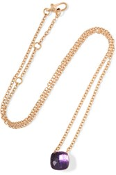 Pomellato Nudo 18 Karat Rose Gold Amethyst Necklace