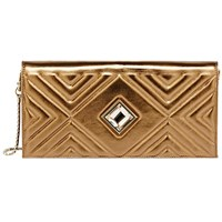 Kristina George Antoinette Clutch Gold Champagne