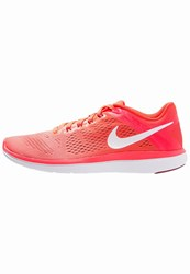 Nike Performance Flex 2016 Run Lightweight Running Shoes Bright Mango White Bright Crimson Noble Red Coral