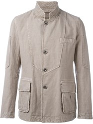 Ermanno Scervino Buttoned Jacket Nude And Neutrals