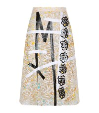 Christopher Kane Lace Midi Skirt Female Yellow