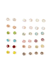 Forever 21 Multi Colored Stud Set Gold Multi