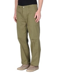 People Casual Pants Military Green