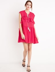 Pixie Market Pink Tassel Tie Dress