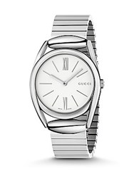 Gucci Horsebit Stainless Steel Analog Watch Silver