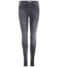 Closed Lizzy Mid Rise Skinny Jeans Grey