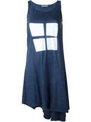 Suzusan 'I. Shibori' Tie Dye Asymmetric Dress Blue