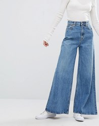Weekday A Line Wide Leg Jeans Peer Blue