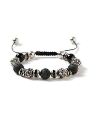 Topman Black Hematite Beaded Bracelet