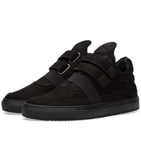 Filling Pieces Low Top Double Strap Sneaker Black