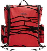 Hood By Air Black And Red Canvas Peel Deni Backpack