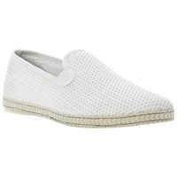Dune Fence Perforated Espadrilles Off White