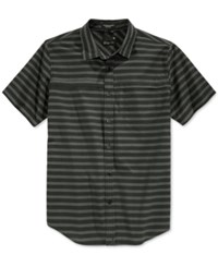 Tavik Men's Shin Stripe Short Sleeve Shirt Black Stripe