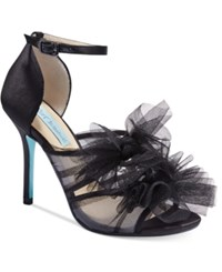 Blue By Betsey Johnson Big Tulle Dress Sandals Women's Shoes Black