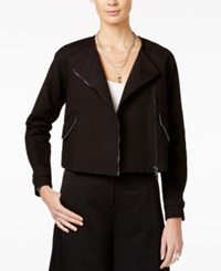Armani Exchange Moto Blazer Solid Black