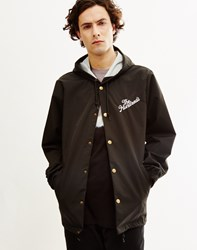 The Hundreds Slant Logo Hooded Coaches Jacket Black
