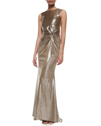 Talbot Runhof Horus Frosted Knotted Mermaid Gown