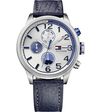 Tommy Hilfiger 1791240 Stainless Steel And Leather Watch Silver