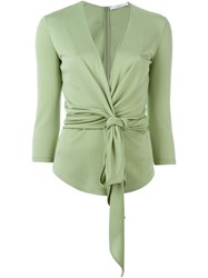 Givenchy Tie Fastening Blouse Green